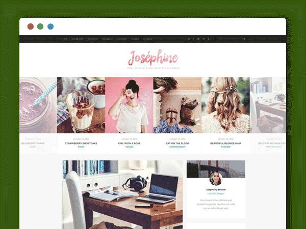 简洁通用的个人图片博客html5网站模板